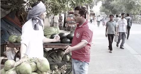 bargaining with street vendors